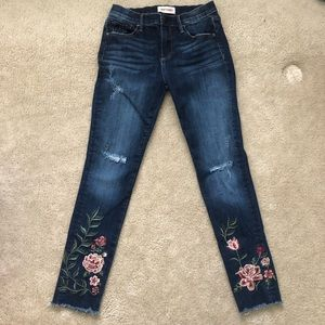 Driftwood Jackie Floral Embroidered distress jeans